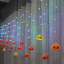 3.5 meters 96 lights LED Halloween pumpkin head ice light