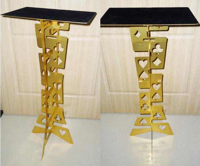 Free shipping Folding Magic Tables (Gold Color),Magic Accessories,stage magic props,close up,Magic Tricks free shipping magic tricks close up color pen prediction close up performance