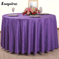 ESQUIRE Synthetic Hair Tablecloth Solid Multi Size Round Or Square Jacquard Table Cloth For Restaurant Home