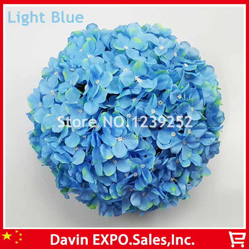 New 10 pcs light blue artificial hydrangea silk flowers ball kissing new 10 pcs light blue artificial hydrangea silk flowers ball kissing balls wedding party festival decorative flowers balls in artificial dried flowers mightylinksfo