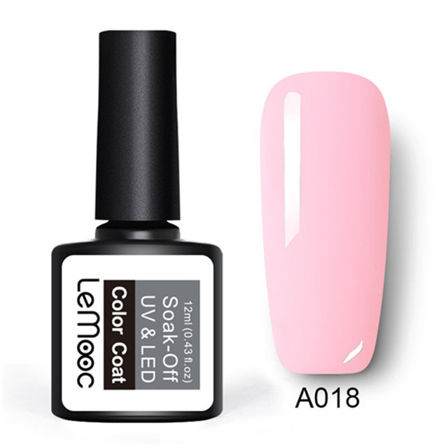 LEMOOC 3 Pcs/set White  Color UV Nail Gel Polish With French Manicure Tip Set Soak Off Gel Varnish Nail Art DIY Gel Laquer 5
