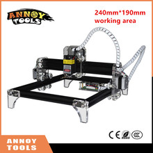 Tools - Woodworking Machinery - New GRBL Laser Engraving Machine 300mw-10w Laser DIY Mini Engraver Full Assembled Delivery 24*19cm Working Area, Wood Router