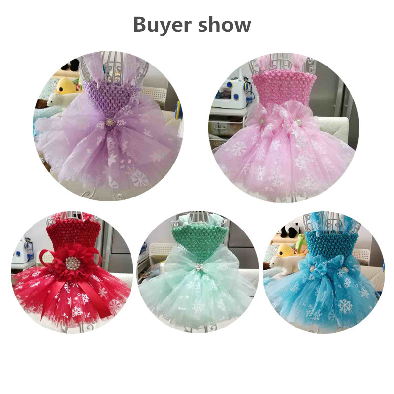 27cm 10 Yards Snowflake Tulle Roll Organza Fabric Tutu Skirt Christmas Decoration Wedding Gift Bow Craft Party Supply in Party DIY Decorations from Home Garden