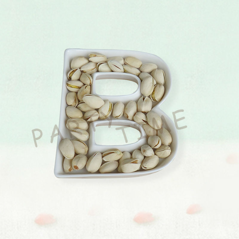 new design letter dish white letter b for party ceramic dish