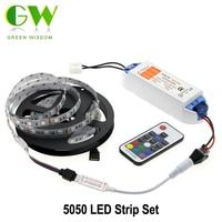 5050 LED Strip RGB RGB/Warm White/White/Cold White 5m Flexible LED Light + DC12V 6.3A LED Driver + RF Remote Controller
