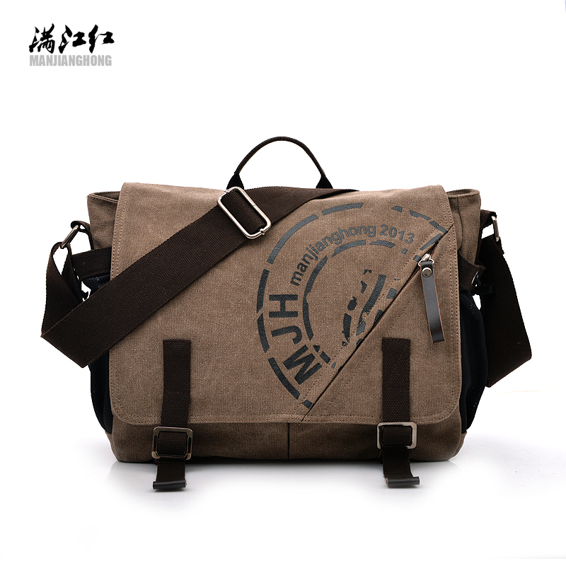 Manjianghong fashion pattern brand canvas men's travel tote crossbody messenger bags vintage satchels briefcase with interlayer missoni for target travel tote colore chevron pattern