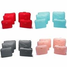 5 stücke Spielraumspeicherbeutel Tragbarer Organizer Kleidung Gepäck Reißverschluss Koffer Tasche Tasche