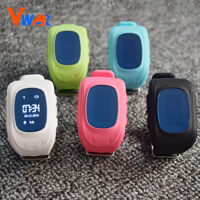 Vwar Original Q50 GPS Kid Smart Watch Anti Lost GPS Tracker Q50 Baby Smartwatch OLED Screen SOS Call Safe with Anti-lost Sensor
