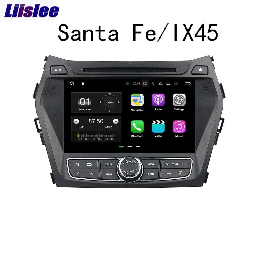 Liislee Android For Hyundai Santa Fe/IX45 2013~2014 Car Navigation GPS Audio Video Radio Stereo Multimedia HD Screen Player. 10 4 tesla type android 7 1 fit hyundai santa fe ix45 2013 2014 2015 car dvd player navigation gps radio