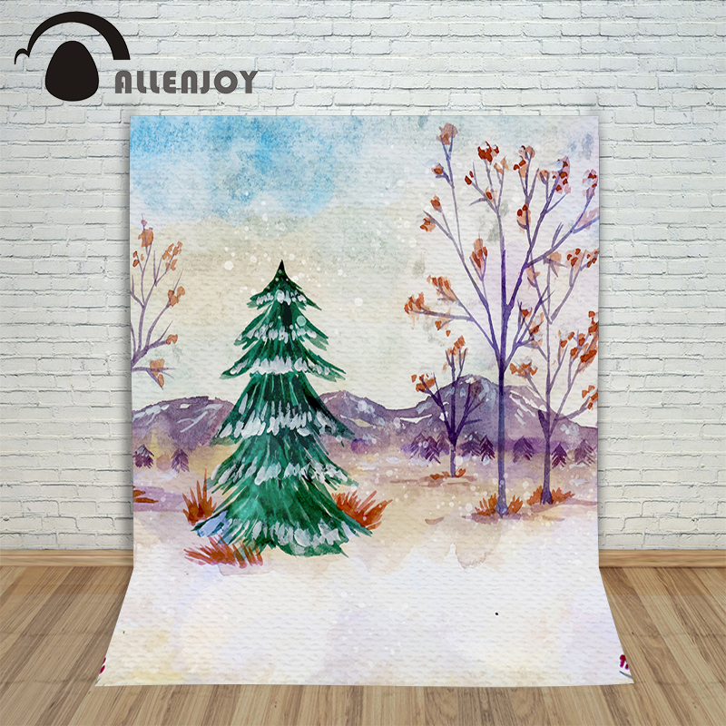Christmas backgrounds for photography Tree winter landscape mountains new year Background studio year of the rooster children дон jsd 20 egft winter mountains