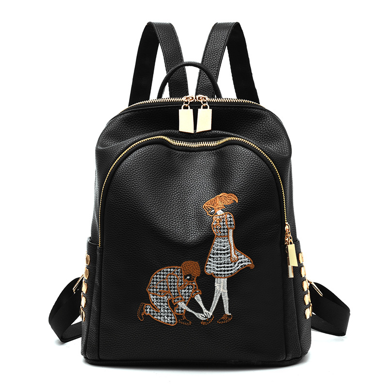 RUIPAI Females Pack Cute PU Backpack Shoulder Bag Designed For Women For Girl It is Suitable For Shopping And Traveling