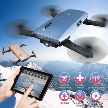 JJRC H47 Wifi FPV Mini Selfie Drone HD Camera Auto Foldable Arm RC Quadcopter Helicopter Kids Adults Christmas Gift
