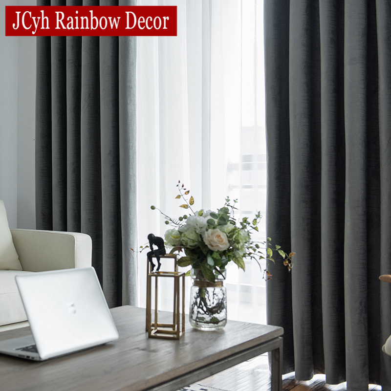 JCyh Modern Blackout Curtains For Living Room Window Treatment Blinds Finished Drapes Window Blackout Curtains For The Bedroom