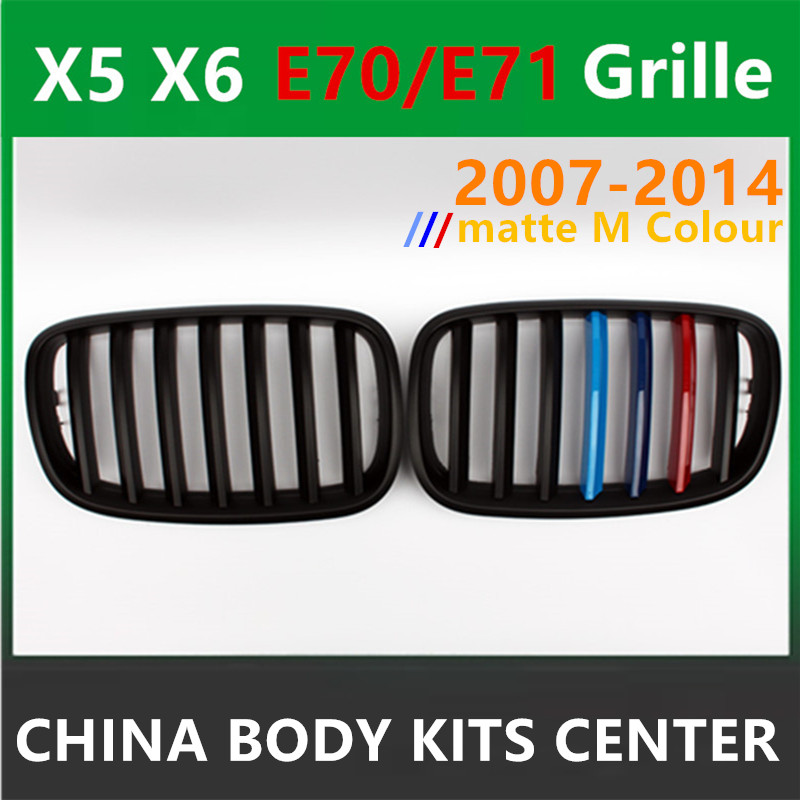 X5 E70 M Color Front Bumper Grille ABS Grill Mesh For BMW X6 E71
