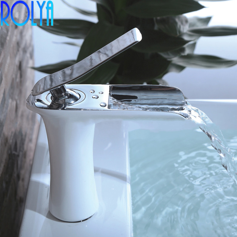 ROLYA brevet Design laiton monotrou mitigeur salle de bain cascade robinet mitigeurROLYA brevet Design laiton monotrou mitigeur salle de bain cascade robinet mitigeur