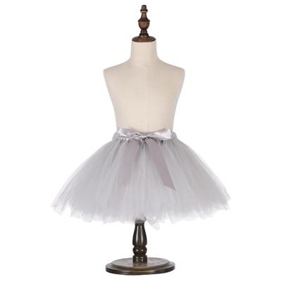 Милые пышные мягкие фатиновые юбки-пачки для малышей; юбка-американка для дня рождения для новорожденных; юбки-пачки для девочек; детские юбки-пачки; одежда для малышей - Цвет: Серый