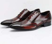 Respirável Preto/marrom bronzeado oxfords sapatos de casamento dos homens vestido de negócios sapatos de couro genuíno sapatos sapatos de escritório moda