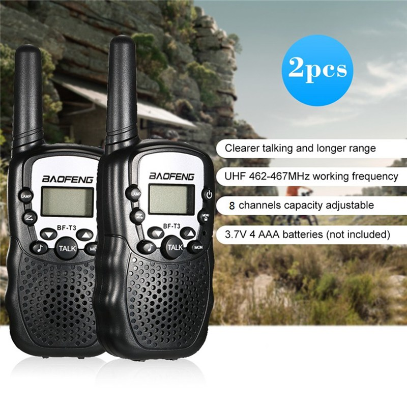 Image 2 - 2 PCS Baofeng BF T3 Mini Children Walkie Talkie Two Way Ham UHF Radio Station Transceiver Boafeng PMR 446 PMR446 Amador Handheld-in Walkie Talkie from Cellphones & Telecommunications