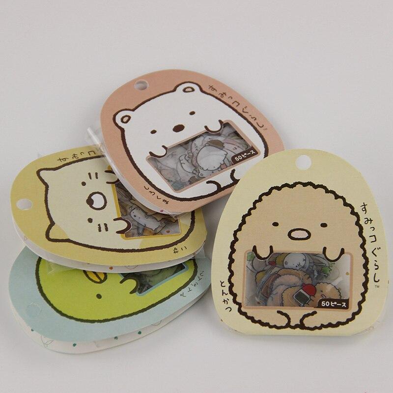 150PCS/3bag Office Supplies Cute Animals Memo Pads Diary Scrapbook DIY Sticker Calendar Notebook Label Decoration