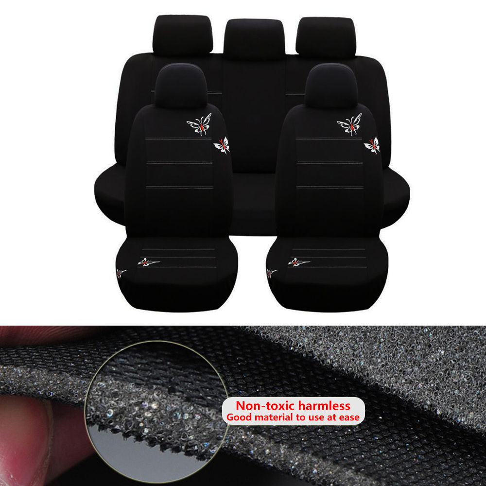 Butterfly Car Seat Covers For Women Universal Fit Most Auto Interior Decoration Accessories Car Seat Protector butterfly car seat covers for women universal fit most auto interior decoration accessories car seat protector