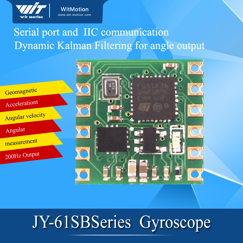 Serial port 6-axis accelerometer / gyroscope BMI160 module, Kalman filter, angle