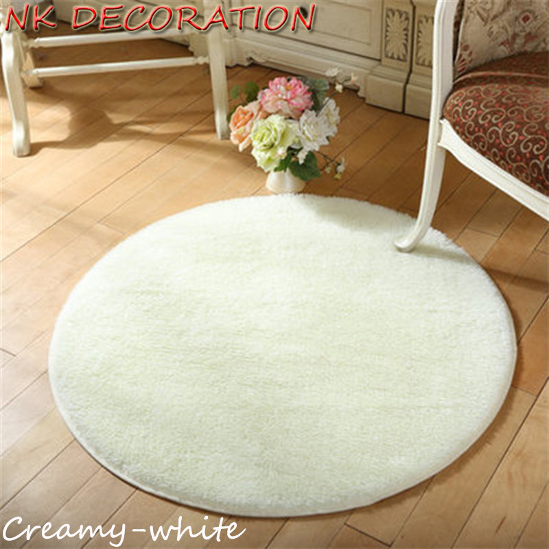 Delightful NK DECORATION Approx 100cm Rug Plush Shaggy Soft Creamy White Round Carpet  Floor Rug Mat For Bedroom Living Room Home Supplies