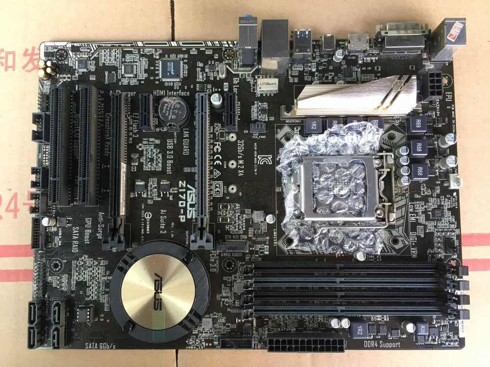 ASUS Z170-P motherboards DDR4 LGA 1151 boards USB3.0 USB2.0 HDMI 64GB Z170 Desktop motherboard Freeshipping