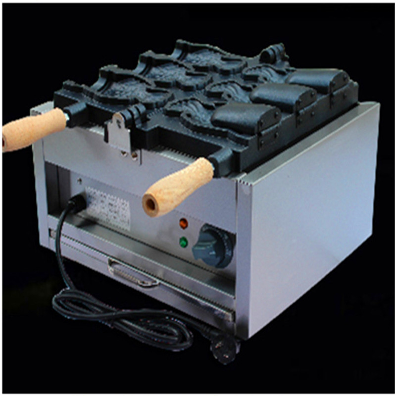 220v open mouth ice cream taiyaki waffle machine big fish cone cake maker taiyaki fish maffle maker waffle ice cream machine