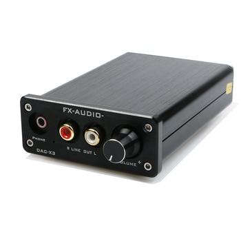 Decodificador USB Coaxial de fibra de FX-AUDIO FEIXIANG DAC-X3 de 24 bits/192 Khz, decodificador USB DAC para auriculares, amplificadores de audio