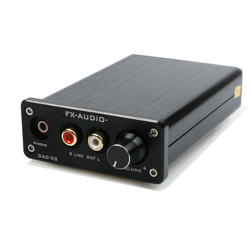 FEIXIANG FX-AUDIO MINI DAC-X3 Fiber Coaxial USB Decoder 24BIT/192Khz USB DAC Headphone Decoder Audio Amplifiers
