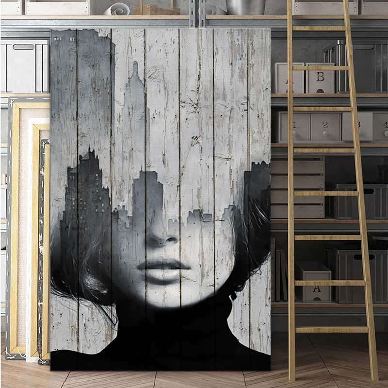 SELFLESSLY Graffiti Art Women Prints And Posters Canvas paintings For living room Wall Art Modern Decorative Pictures Unframed