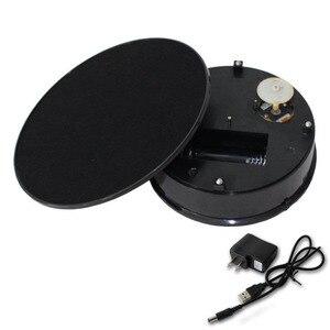 Image 4 - 20cm élégant noir velours haut électrique motorisé rotatif affichage plateau tournant charge Max 1.5kg pour bijoux Modeldisplay stand
