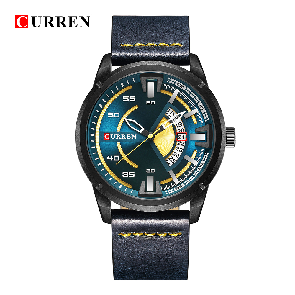 CURREN 8298 Mens Watches Waterproof Date Top Brand Luxury Leather Band Sport Business Military Male Clock Gift Relogio Masculino