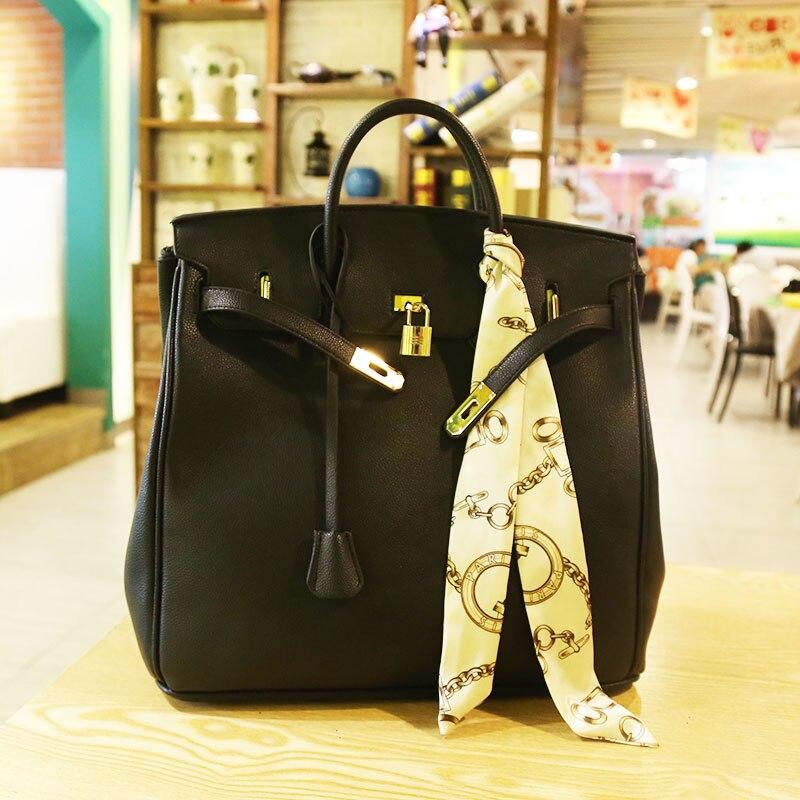 Bolsos Mujer Bolsas Feminina Luxury Handbags Bags Designer 2018 New Platinum Bag European And American Lychee Handbags Wild Big одежда для отдыха european and american big pm110 2015