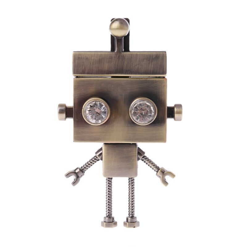 Robot Shape Clasp Turn Lock Twist Locks Metal Hardware For DIY Handbag Shoulder Bag Purse