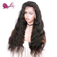 Eayon волны волос на теле 360 Кружева Фронтальная натуральные волосы парик бразильский Реми для черный Для женщин с волосами младенца 130% плотно