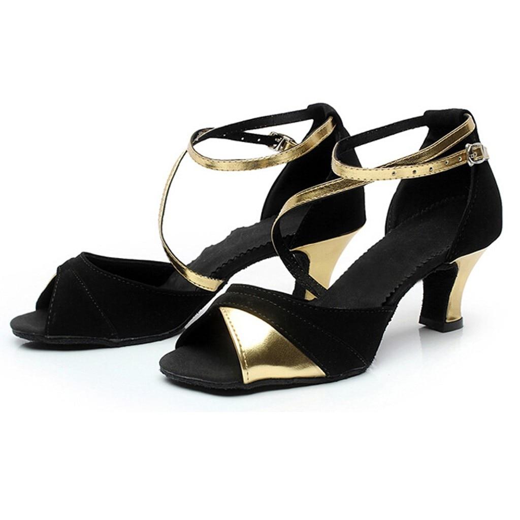 2019 New Womens Fashion Rumba Waltz Prom Ballroom Latin Salsa Dance Sexy High Heels Shoes Sandals Ladies Zapatos De Baile 15 Other