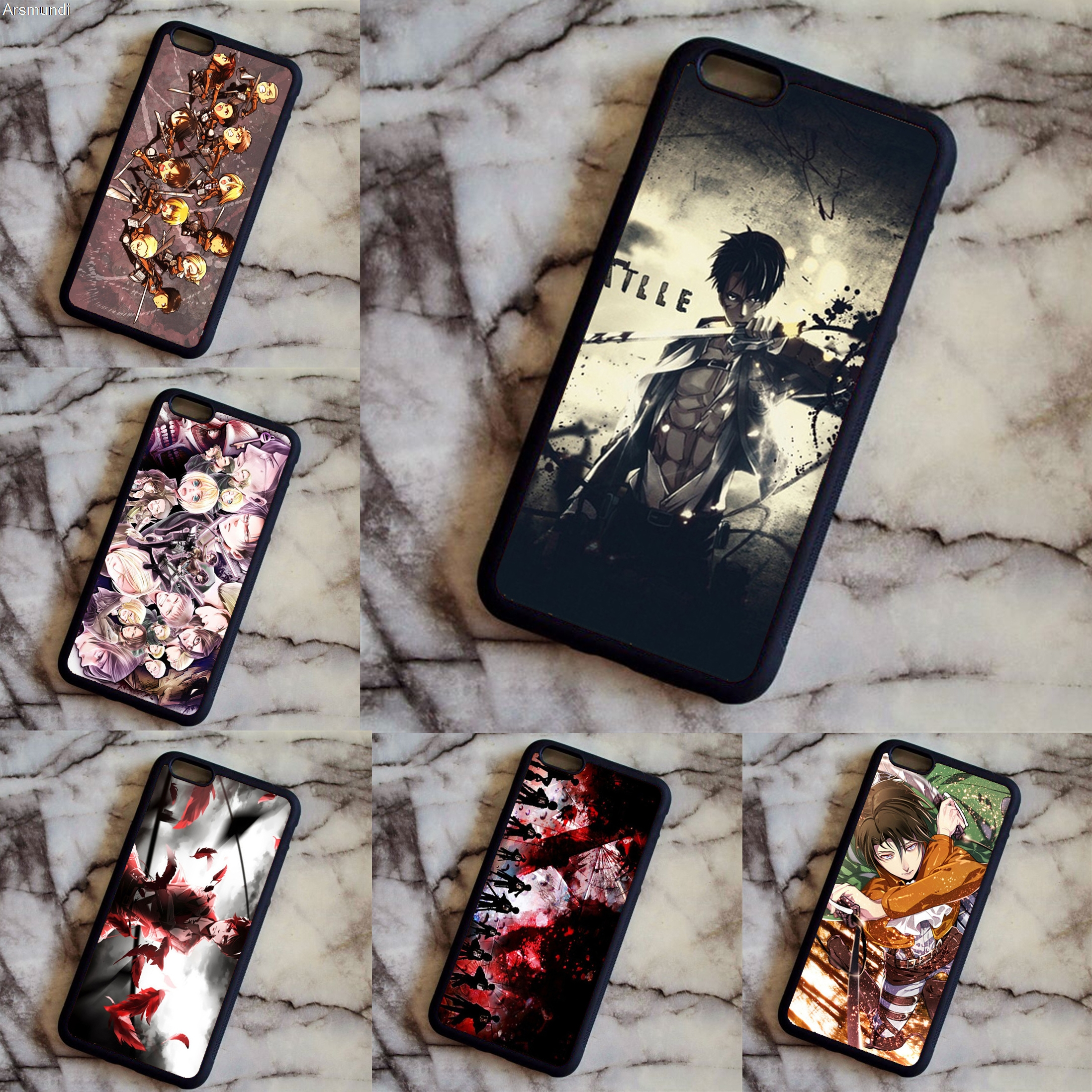 Arsmundi font b 2018 b font Japanese anime attack on titan clear Phone Cases for font