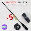 Нагоя NA-771 BNC увч + укв антенна для портативной рации TK100 TK200 IC-V8 IC-V80 IC-V82 IC-U82 CP500 CP520