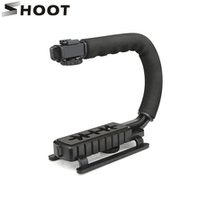 Снимать c образный держатель захвата видео Ручной Стабилизатор для DSLR Nikon Canon Sony Камера и свет Портативный SLR Steadicam для goPro