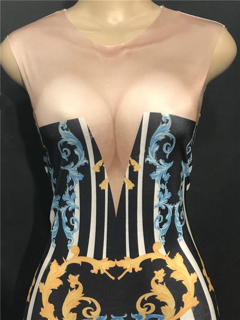 Peau De Customes Fête Porter La Couleur Stage Sexy D'anniversaire Totem Discothèque Imprimé Nouveau bas Salopette 2019 Femmes 3d Cloche Célébrez WxnwYIW
