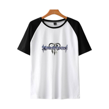 LUCKYFRIDAYF Kpop New Kingdom Hearts trend hot Raglan Short Sleeve Summer T-shirt Women/Men pop T-shirts Women Cotton Unisex Tee two tone raglan sleeve tee