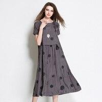 New Summer Print Polka Dot Long Dress Robe Ete 2017 Vestidos Ukraine Big Swing Loose Maxi