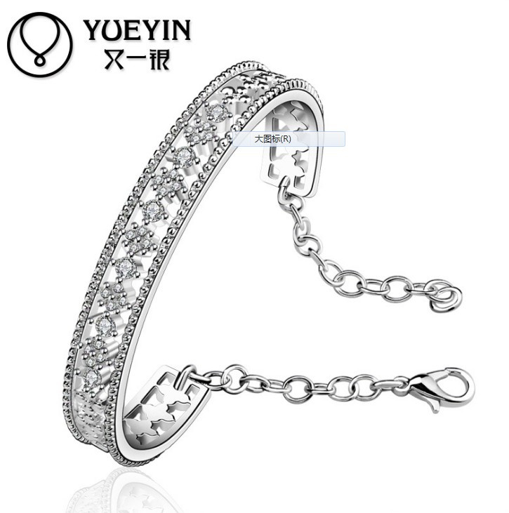 2018 Real New High Quality Fashion 925 For Women Crystal from Swarovski Bracelet Woman Charm Jewelry Chamilia Bead Ornaments