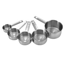 5pcs/set Stainless Steel Measuring Cups Kitchen Spoon Scoop Kit for Baking Cooking Tools