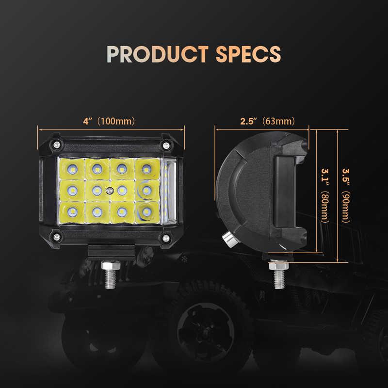 4 дюйма светодиодный бар светодиодный рабочий свет бар для вождения внедорожной лодки автомобиль трактор грузовик 4x4 SUV ATV 9-32 V Номинальная 114 W