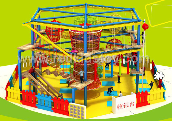 Indoor Adventure Playground Equipment With Time Tunnel For Amusement Park HZ-056-1