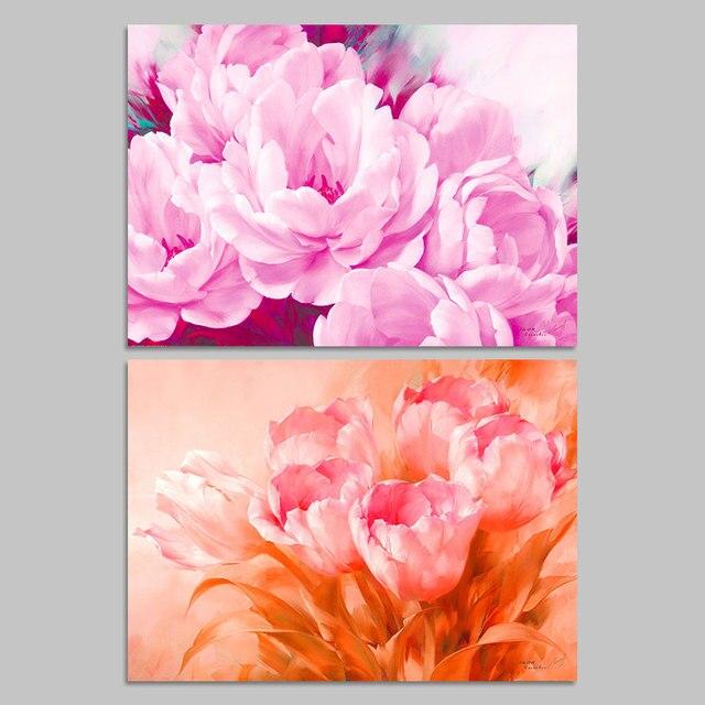 Peony Wall Art aliexpress : buy modern pink red flowers wedding decoration