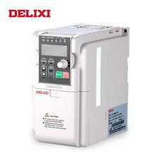 DELIXI AC 0.4 2.2KW 220V tek fazlı giriş 3 fazlı çıkış 50HZ 60HZ frekans dönüştürücü motor hız kontrol inverteri