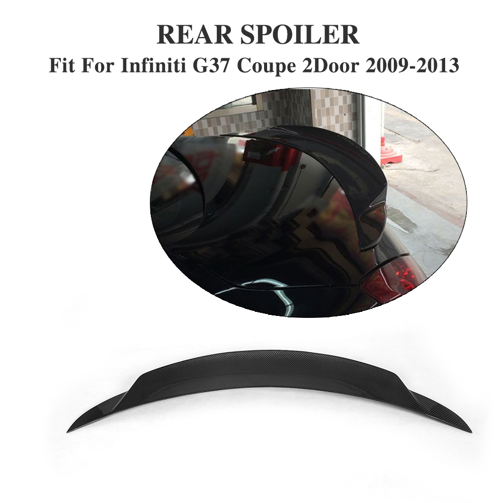 Real Carbon Fiber Auto car Rear Trunk wing lip spoiler For Infiniti G37 coupe 2Door 2009-13 BASE COUPE JOURNEY COUPEReal Carbon Fiber Auto car Rear Trunk wing lip spoiler For Infiniti G37 coupe 2Door 2009-13 BASE COUPE JOURNEY COUPE